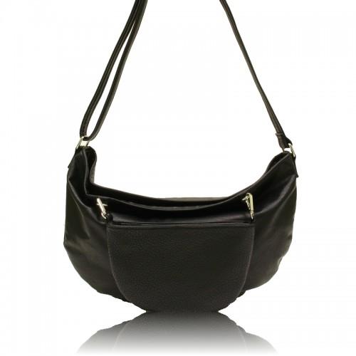 Emma 2 In 1 Messenger Bag - Black