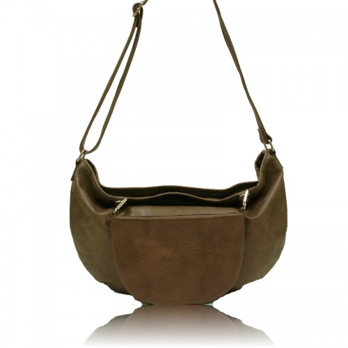 Emma 2 In 1 Messenger Bag - Khaki