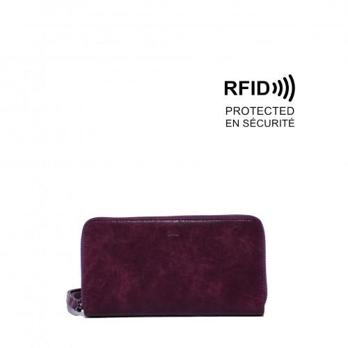 Sabina Clutch Wallet Purple