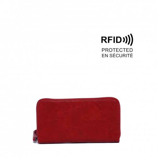 Sabina Clutch Wallet Red