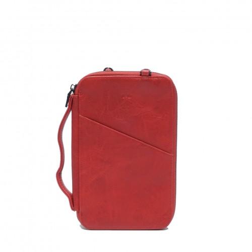 Athena Passport Pouch Red