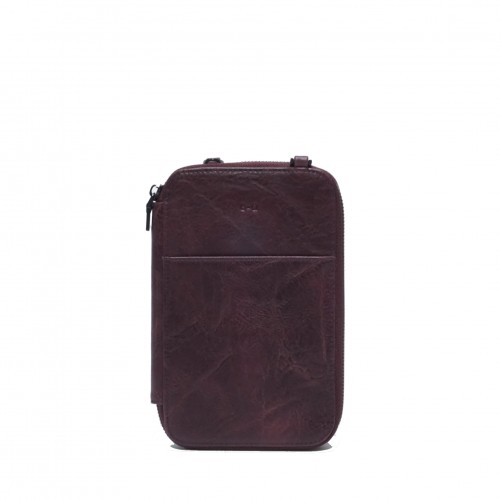 Rhona Passport Pouch Plum