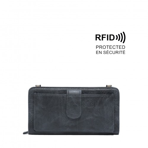 Dona Smartphone Wallet Dark Grey