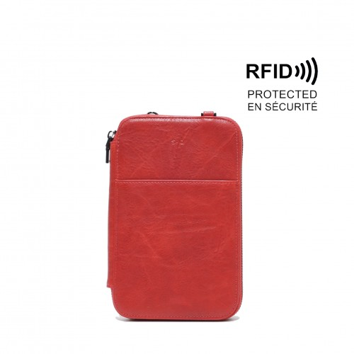 Rhona Passport Pouch Red