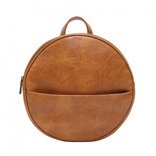 Jessa Round Convertible Backpack Camel