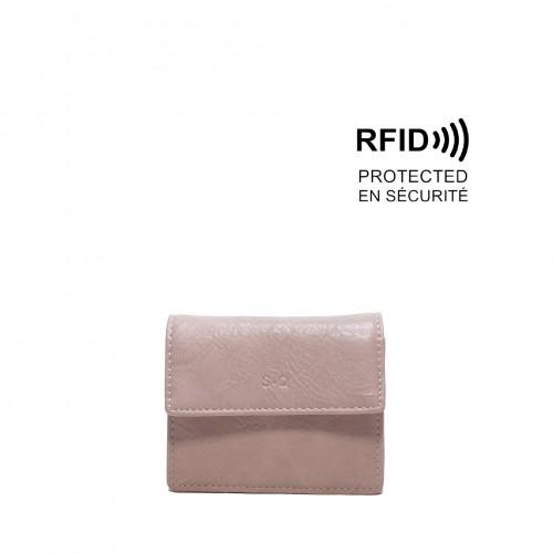 Leona Card Case Petal Pink