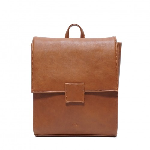 Amara Convertible Backpack - Cognac