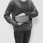 Gem Flap Long Wallet - Marble Grey