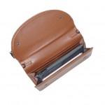 Gem Flap Long Wallet - Tan
