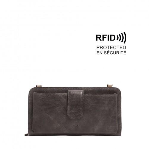 Dona Smartphone Wallet - Dark Grey