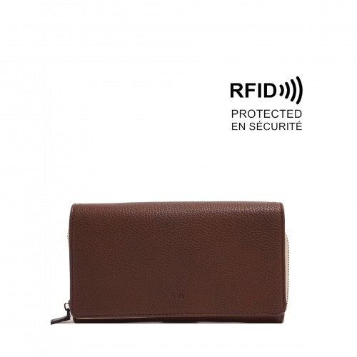 Lucia Smartphone Wallet - Brown